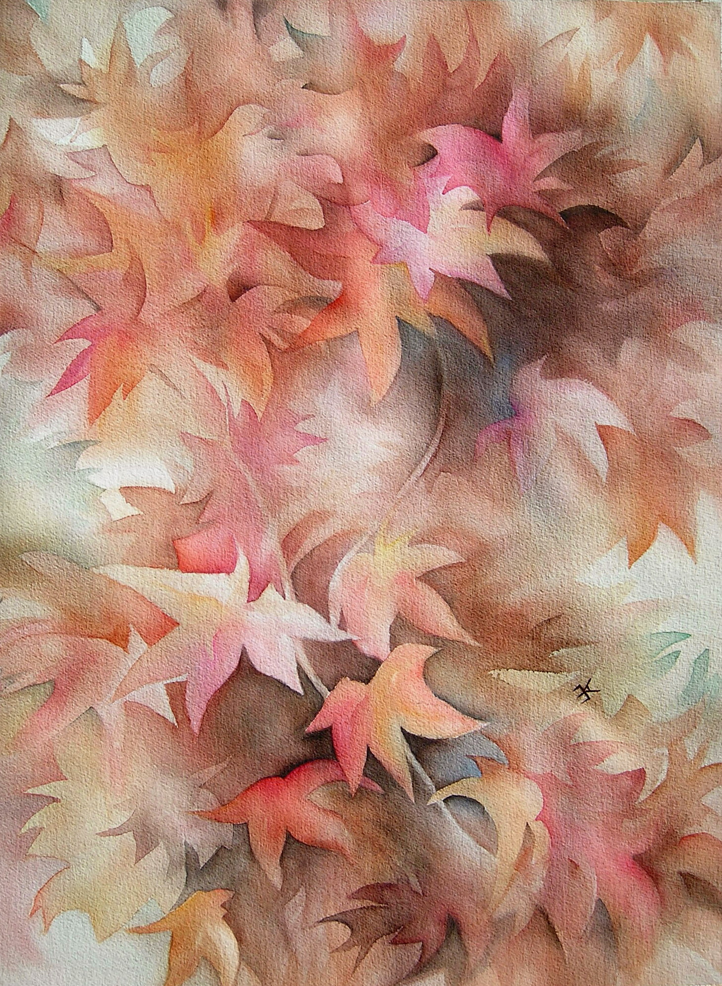 Dancing Leaves painting