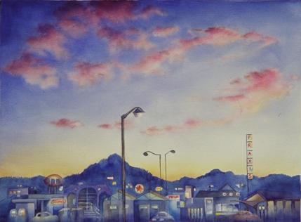 Coburg Road at twilight