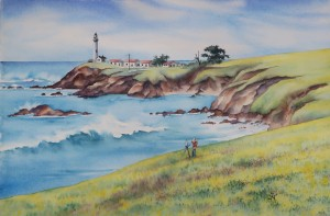 Pigeon Point lighthouse painting
