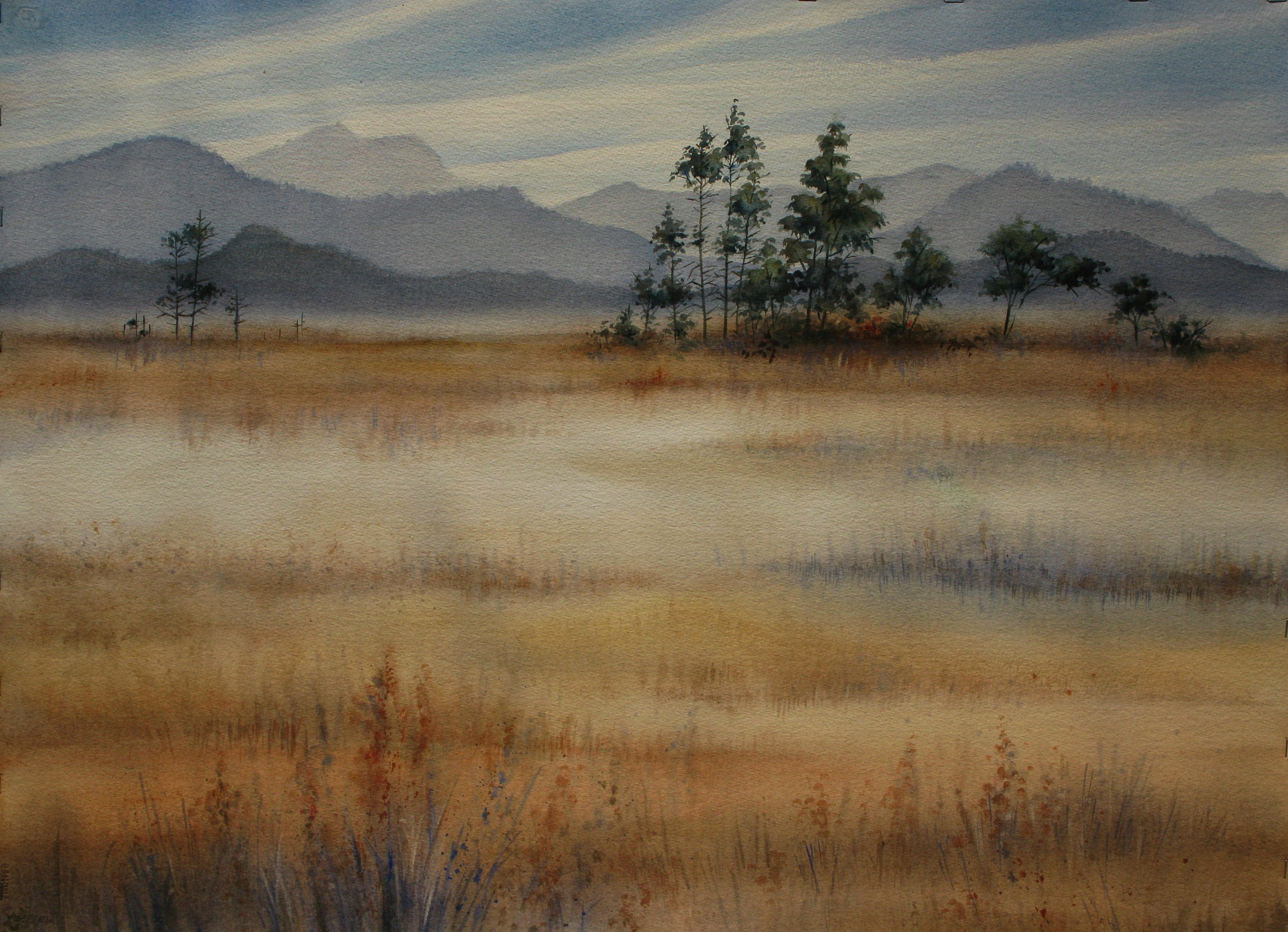 Klamath Lake painting