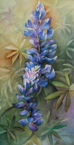 lupine painting