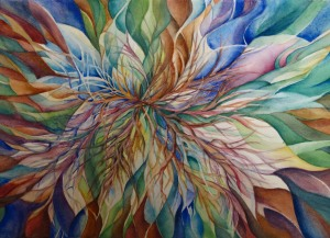 petals and branches painting