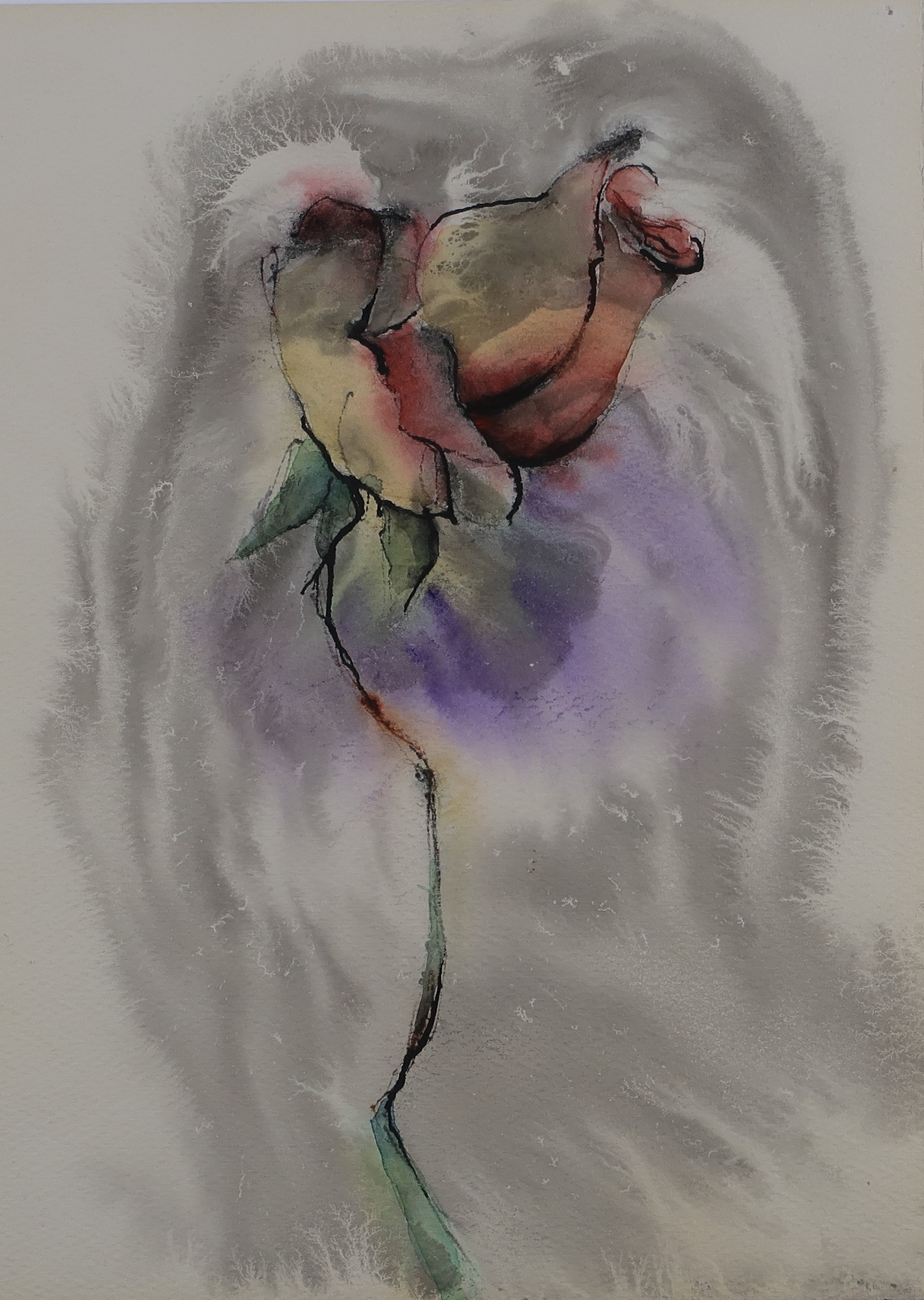 rose bud painting