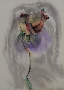 rose bud painting