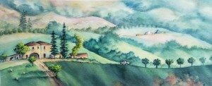 Tuscan Hills painting