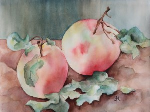 Two Apples painting