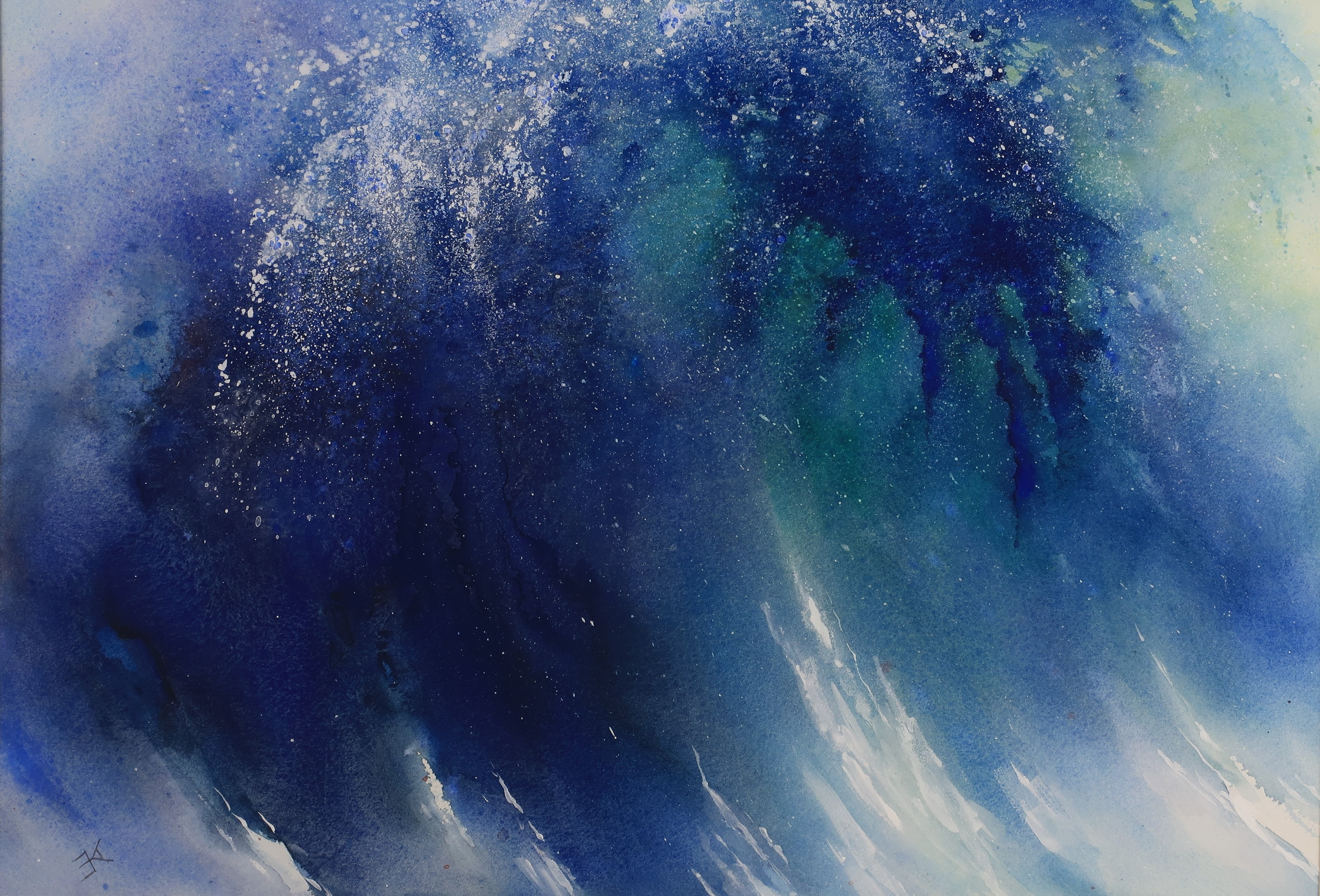 blue wave painting