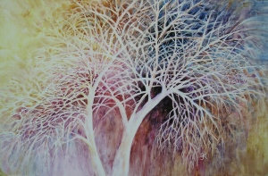 Tree Silhouette painting