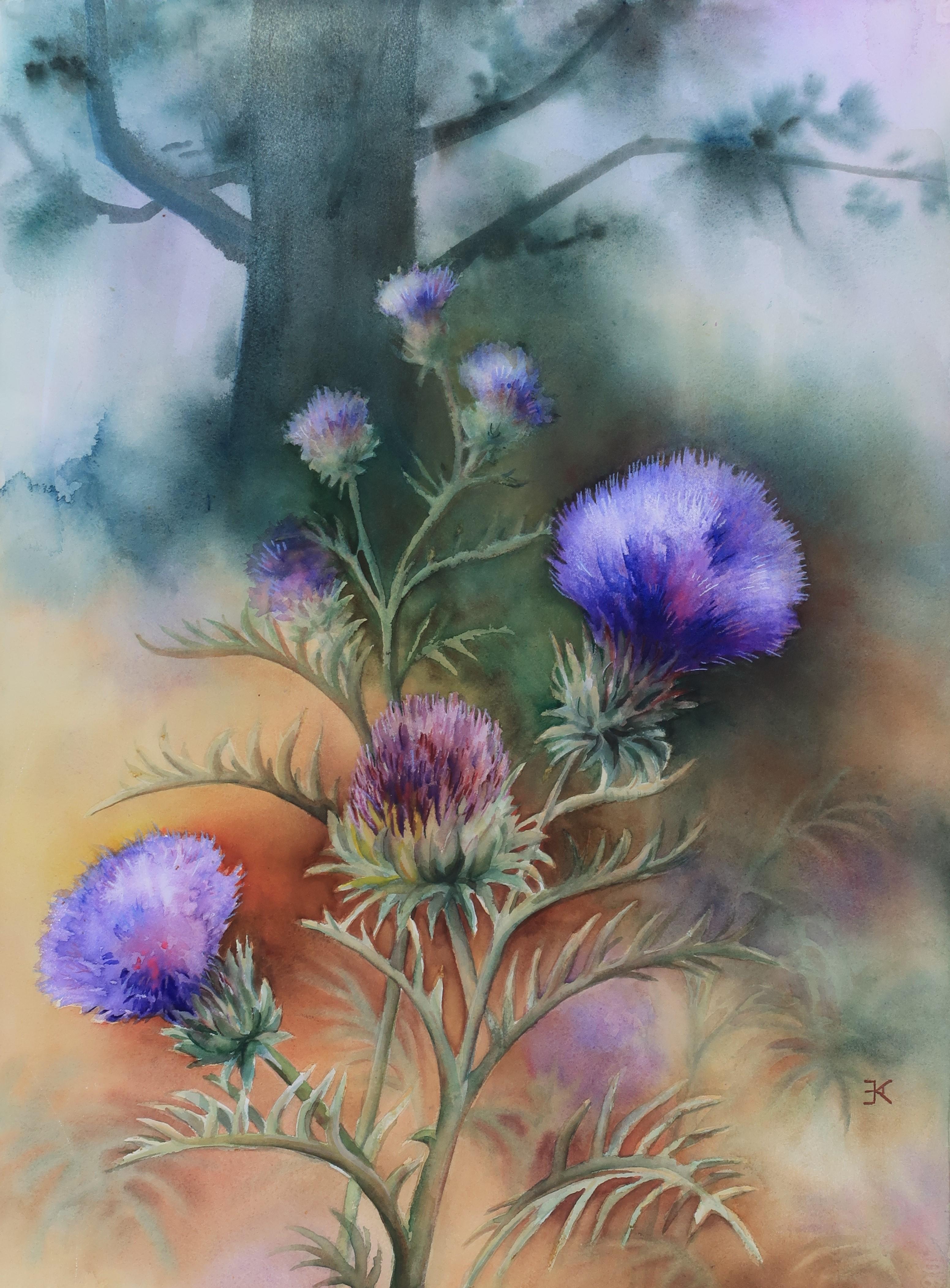 Wild Artichoke painting