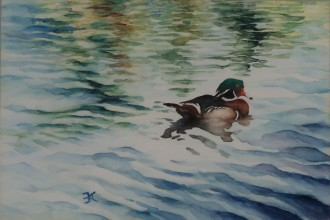 """On the Water 29.5x22.5"""" SOLD"""
